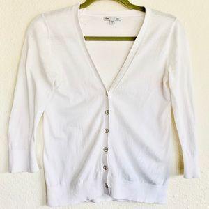 Gap Lightweight 3/4 Sleeve V-Neck Cardigan Size XS